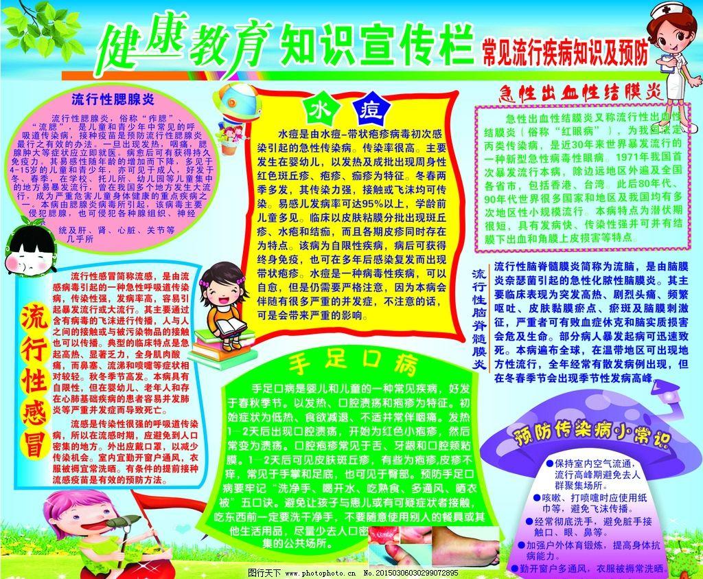 幼儿园 健康教育知识 宣传栏展板