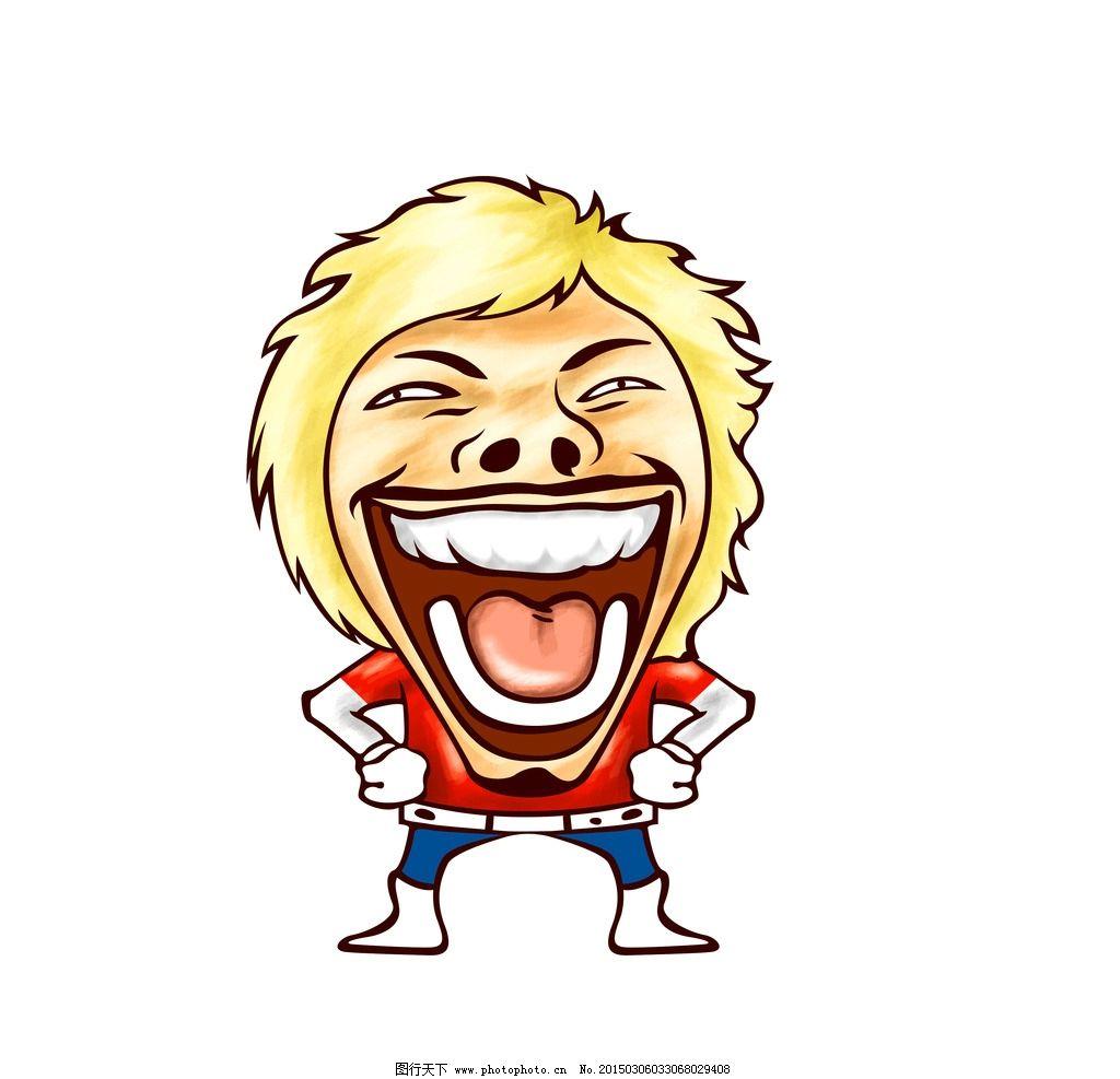 大笑 韩国卡通 卡通 人物 搞怪 超人 经典人物 时尚 设计 psd分层素材