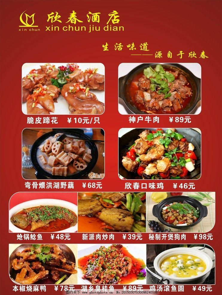 酒店宣传海报 菜品海报图片图片