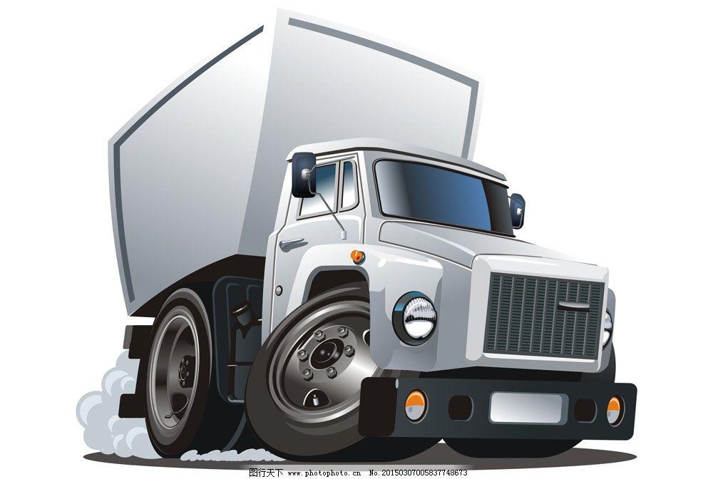 灰色大货车