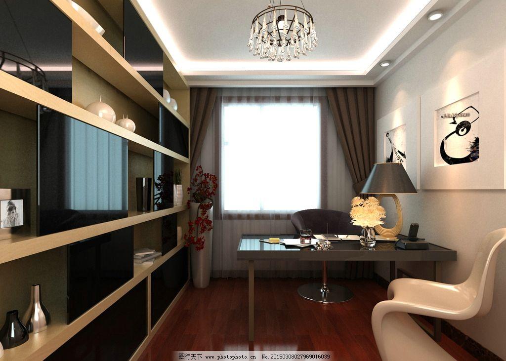 現代風格書房圖片_室內設計_環境設計_圖行天下圖庫