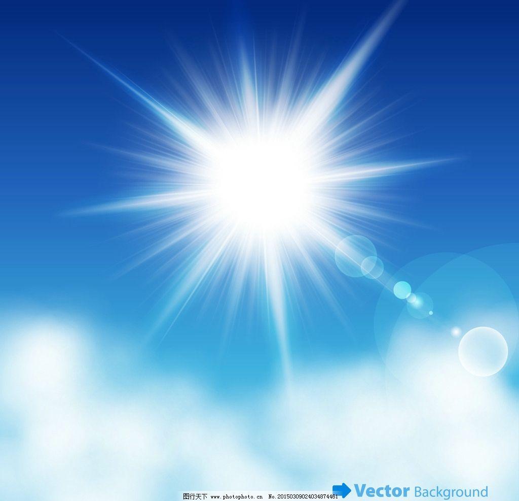 蓝天白云 天空 手绘 光线 阳光 梦幻光斑 云彩 云朵 自然风光 底纹