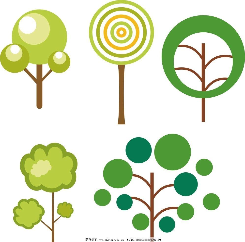 卡通树木素材 圆圈图片,卡通素材 可爱 手绘素材 儿童