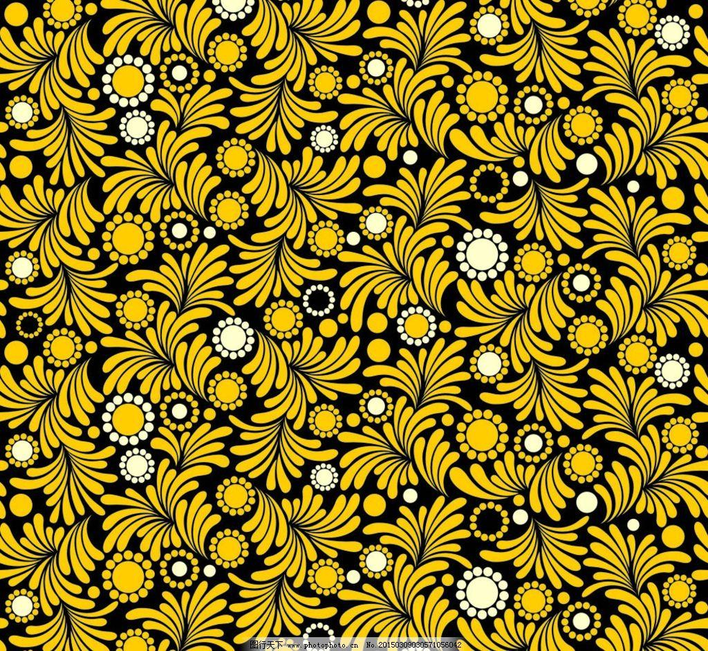 黄色花纹背景 花纹图案 欧式花纹 花纹边框 金黄色花纹 装饰花纹