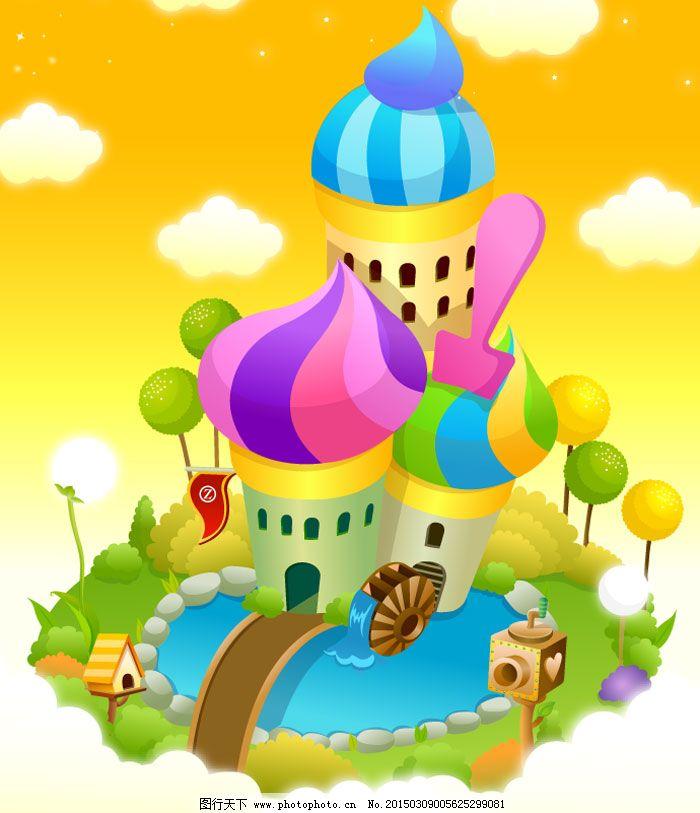 儿童城堡,幼儿园,宣传广告,幼儿素材