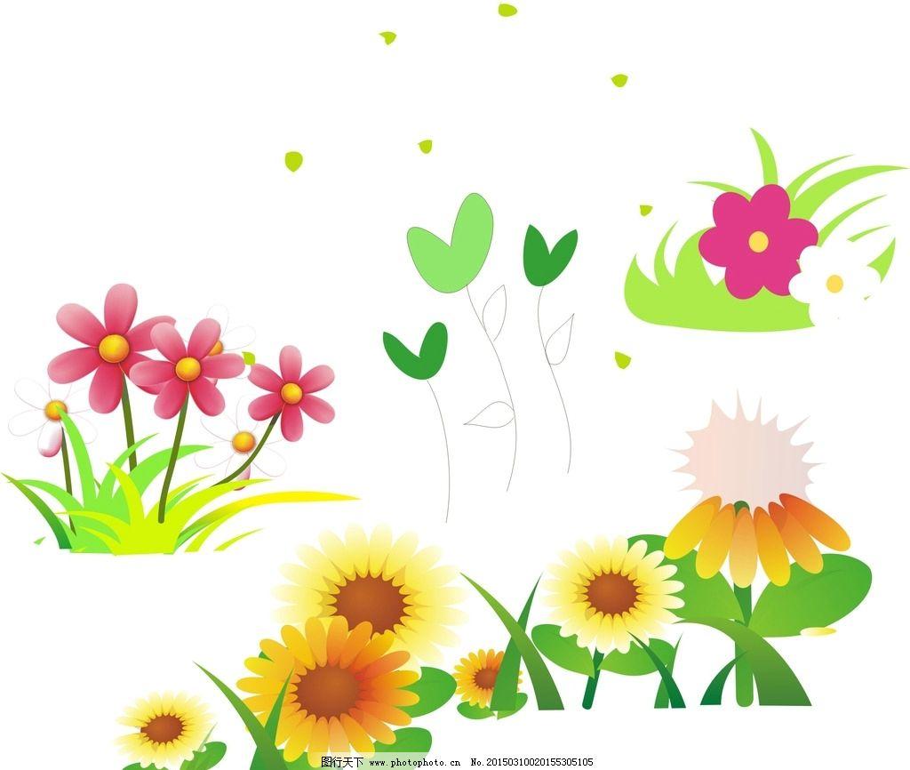 卡通花朵 手绘图片