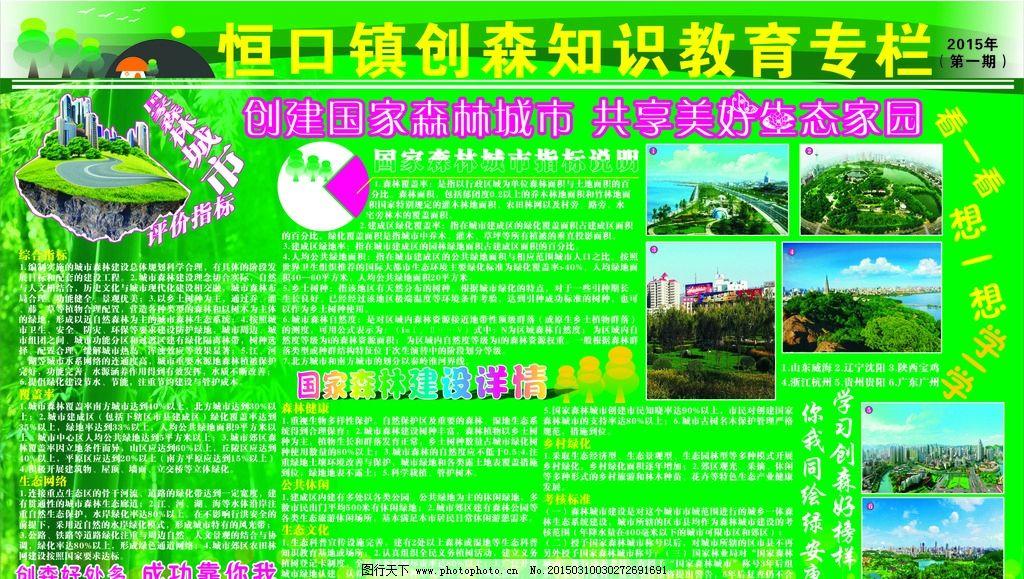 创建国家森林城市宣传栏图片图片