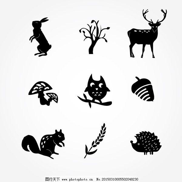 动植物图标矢量图
