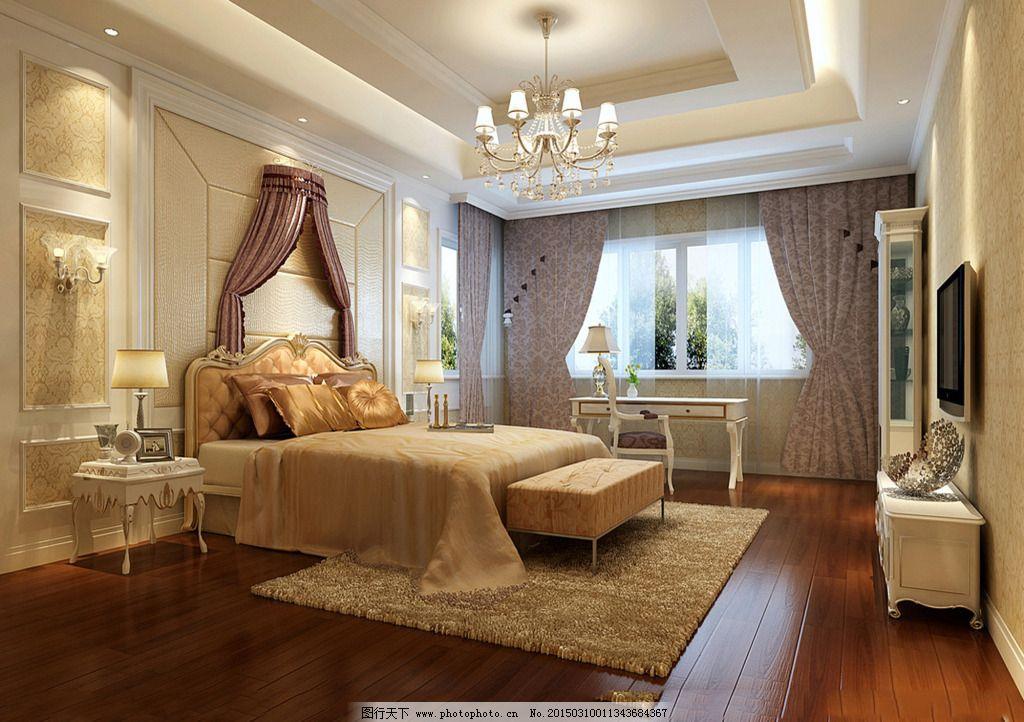 效果图 龙西/豪华卧室模型