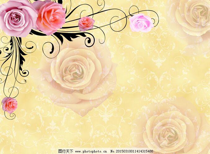 黄色玫瑰背景