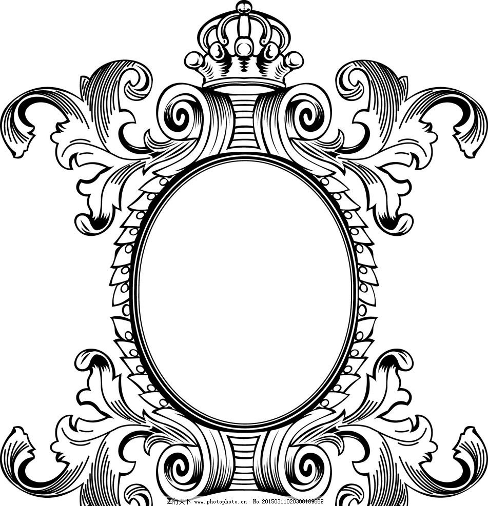 欧式花纹 花边 边框 巴洛克式框架 相框 花纹分割线 装饰花纹 花纹图片
