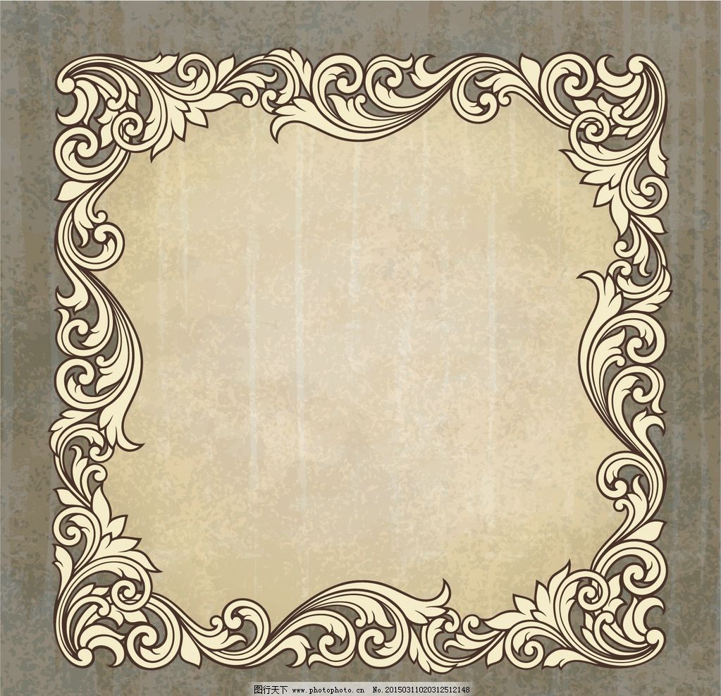 欧式花纹 花边 边框 巴洛克式框架