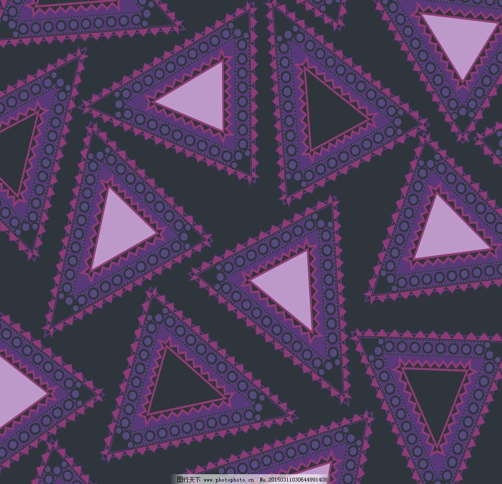 几何印花图案 民族风 三角形 时尚 提花图片