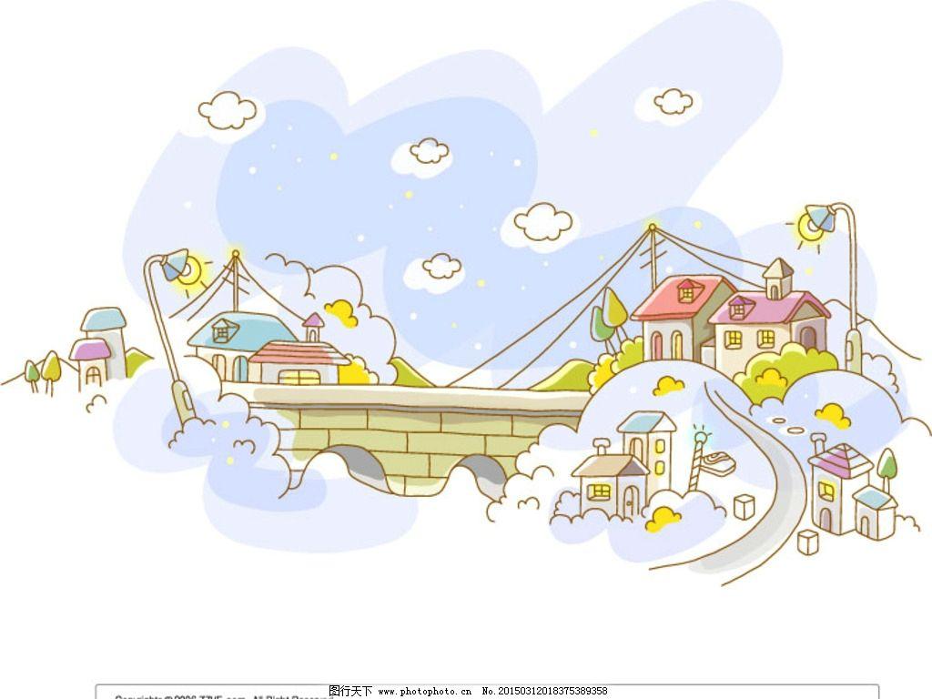 韩国 line art 卡通 可爱 插画 插图 韩国背景 可爱背景 分享素材设计