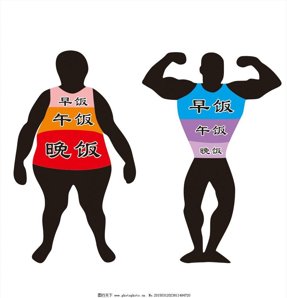 减肥健身对比图图片