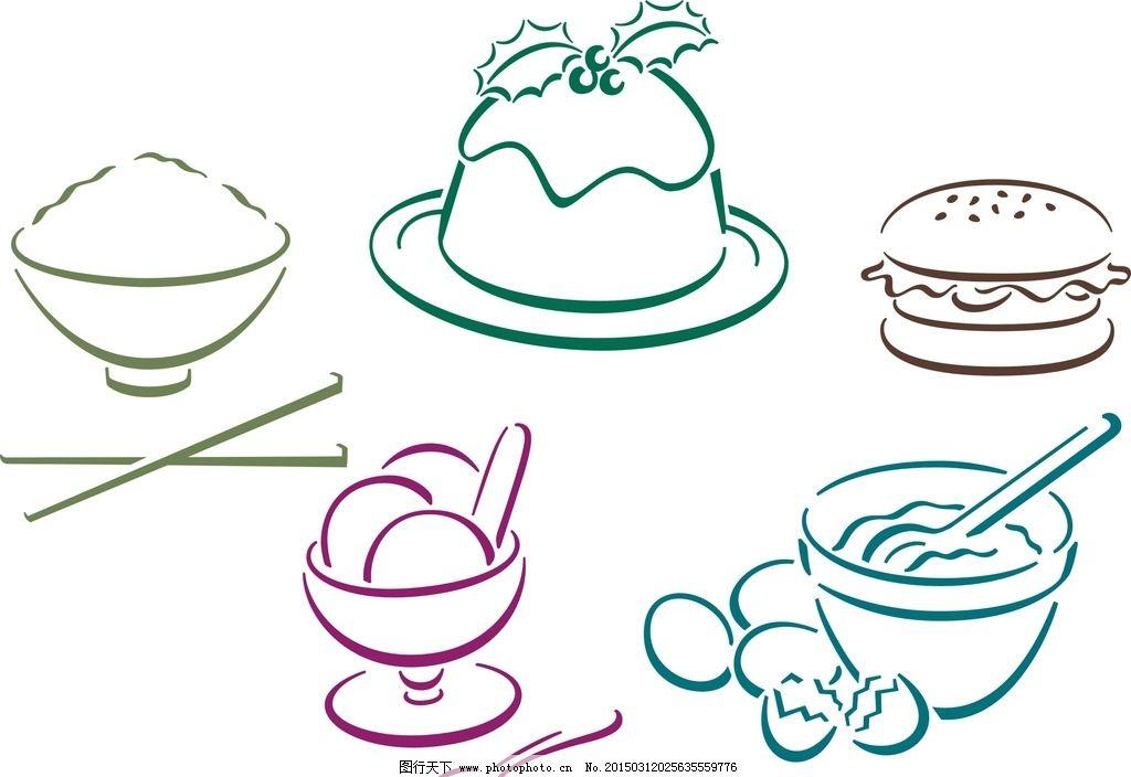 米饭手绘图片