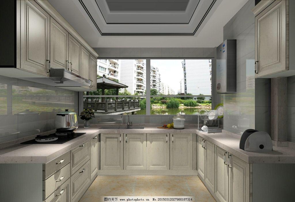 实木橱柜 欧式橱柜 开放漆 白色开放漆 欧式 橱柜 设计 环境设计 室内