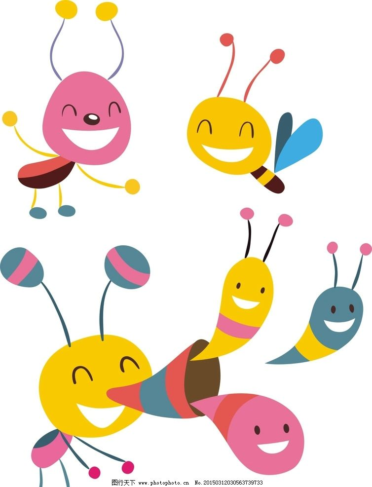 卡通蜜蜂 手绘 卡通素材 可爱 手绘素材 儿童素材 幼儿园素材