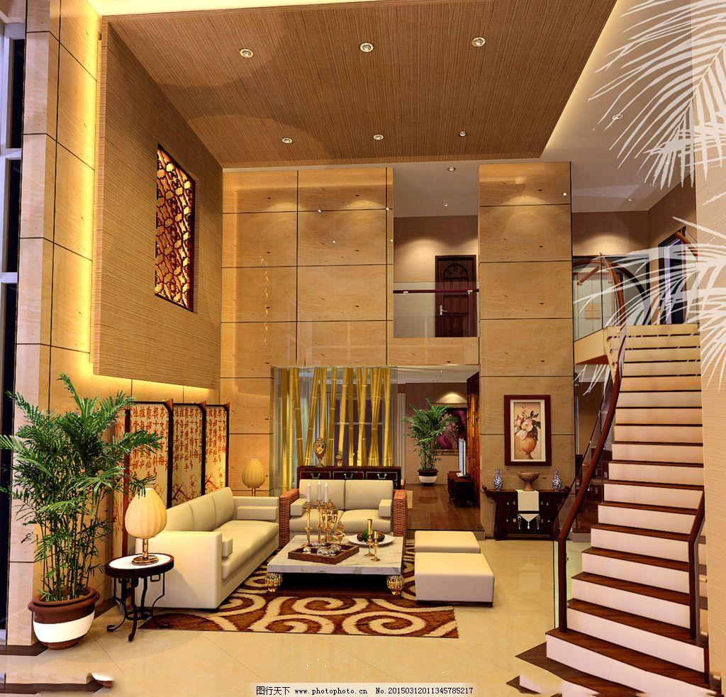 复式别墅欧式客厅_室内设计