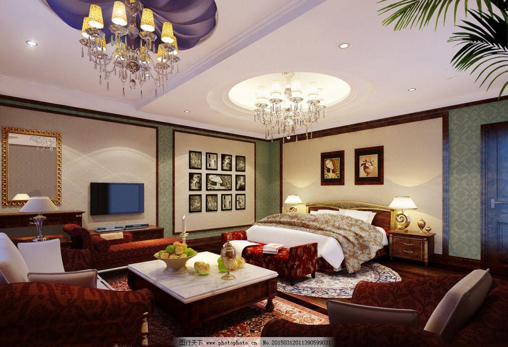 客厅卧室一体_室内设计