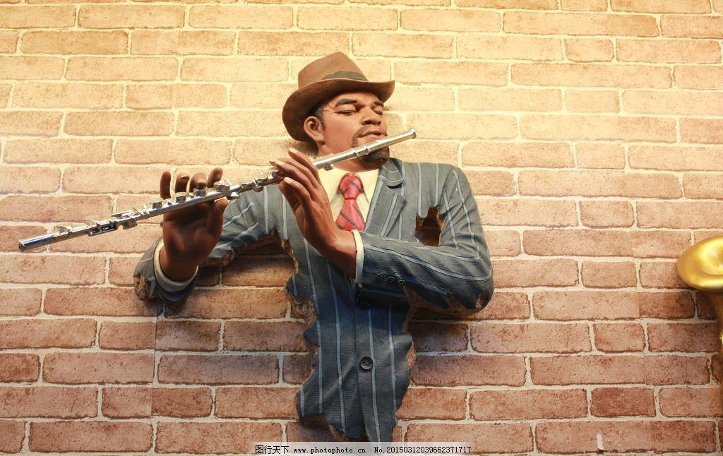 吹笛子的男人 人物雕塑 萨克斯雕塑 酒店雕塑 酒店大厅 金色雕塑 金色