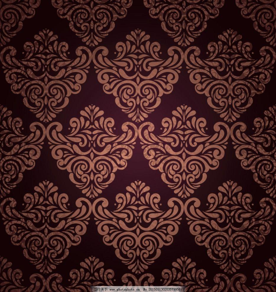 欧式花纹边框背景图片