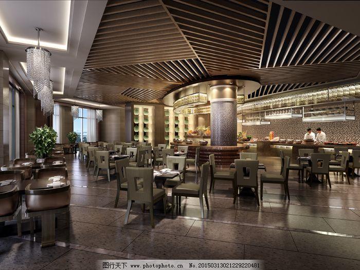 室内设计 室内效果图 室内装修 装饰装潢 咖啡厅 餐桌 餐椅 室内场景