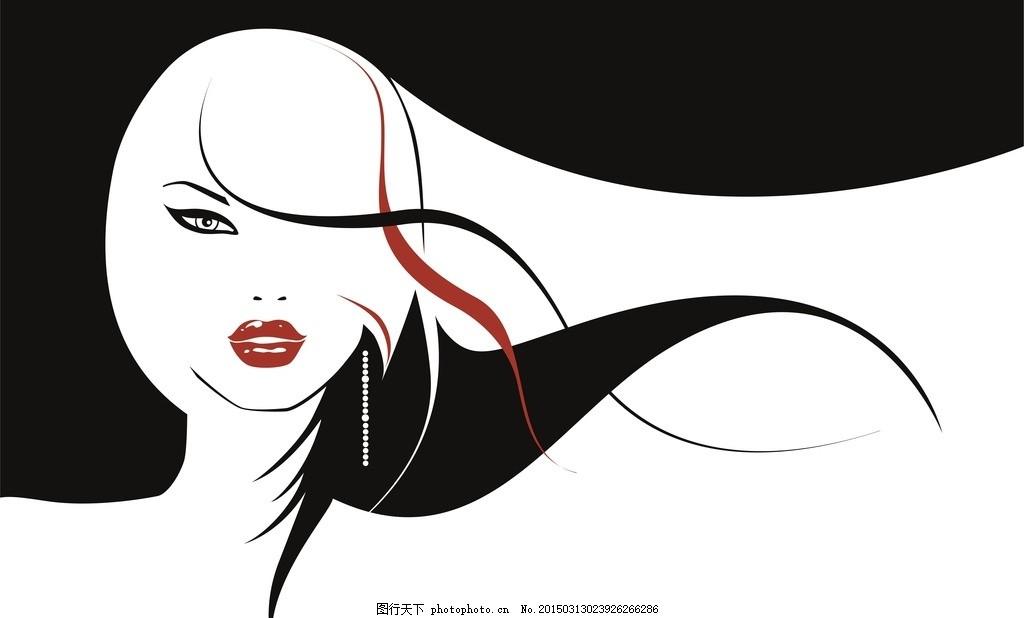 长发飘逸 女孩 人物 女性 女人 美女 理发 理发店 发型 长发 头发 cd