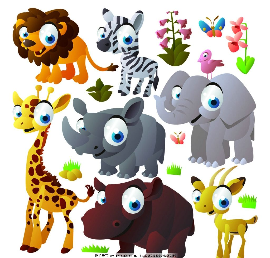 可爱 动物 陆地 生物 哺乳类 设计 生物世界 野生动物 eps