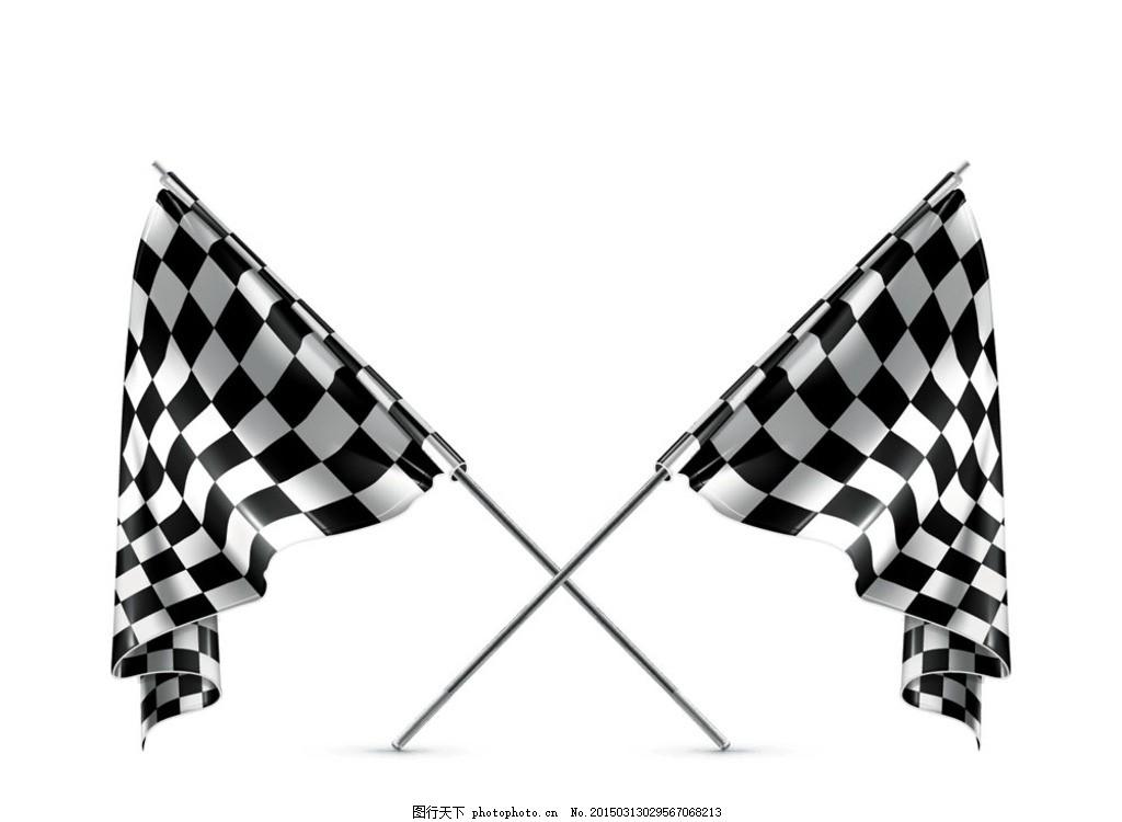 设计图库 广告设计 设计案例  赛车专用黑白旗 横幅 格仔 竞争 设计