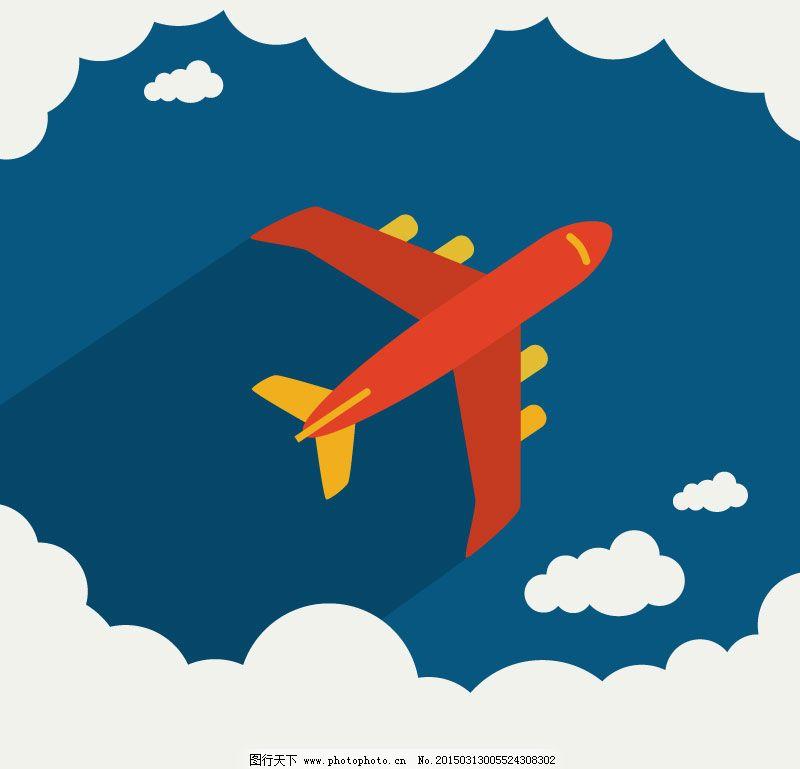 翱翔云层上的民用飞机