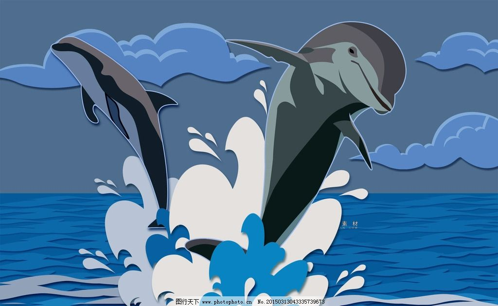 海豚壁纸高清卡通图片
