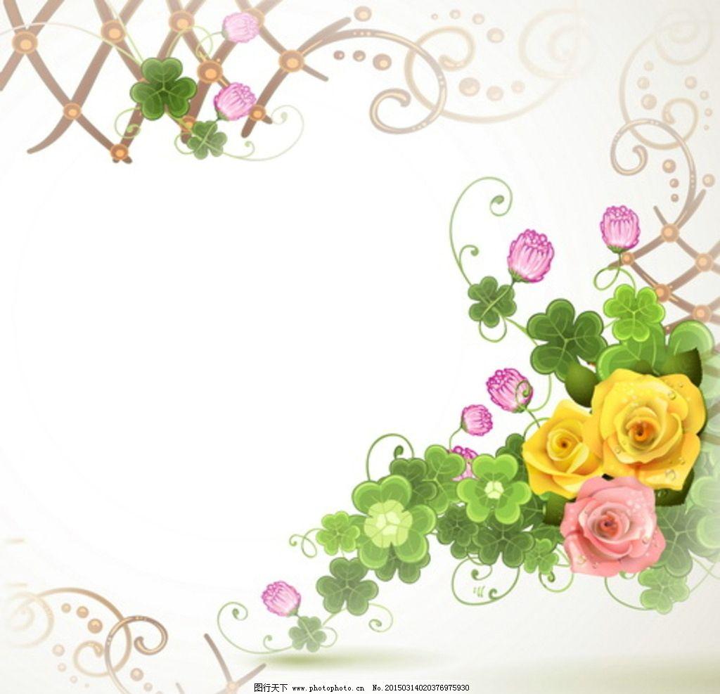 花边 花边花纹 花纹花边 精美花边 矢量花边 玫瑰花边 玫瑰 玫瑰花