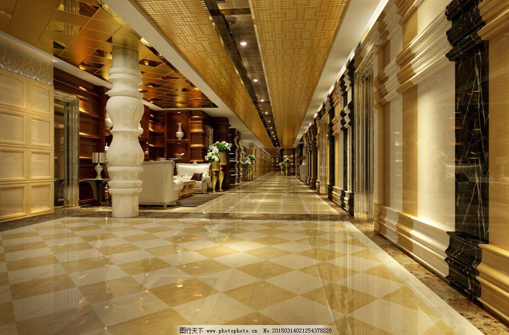 欧式复古大厅 欧式复古大厅免费下载 豪华 模型 装修 室内装饰模型