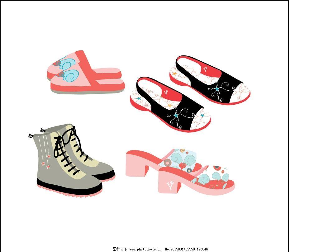 女鞋 鞋子 失量鞋子 手绘鞋子 可爱的鞋子 设计 生活百科 生活用品 ai