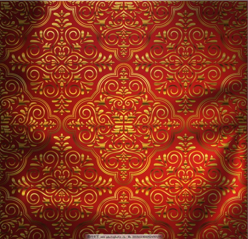 欧式 花纹 纺织 布料 纹理