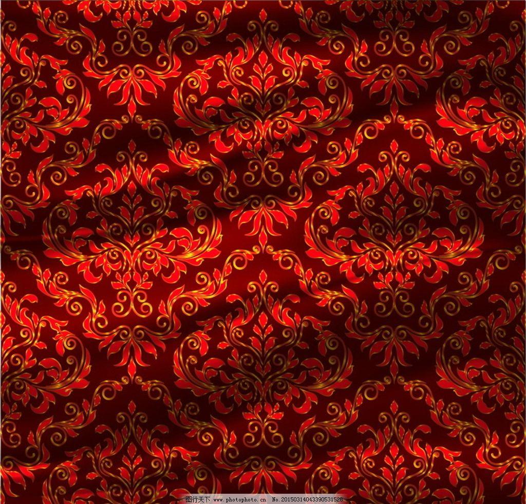 布料纹理 欧式 花纹 纺织 布纹 底纹 底纹边框 背景底纹