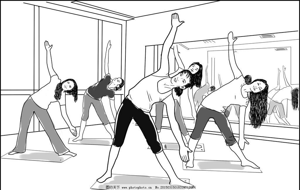 手绘风格健身壁纸