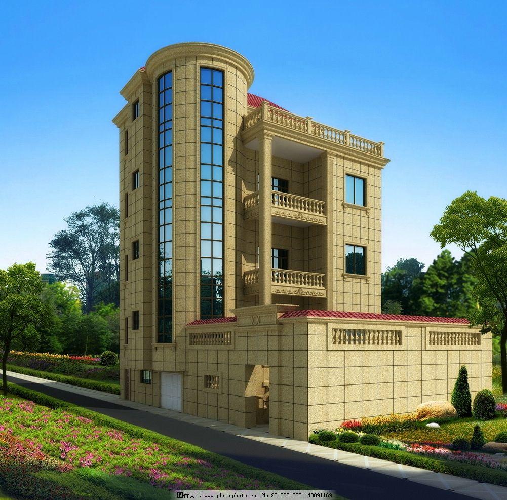 艺鼎石材设计 别墅设计        欧式别墅 外墙干挂 室外设计  设计 3d