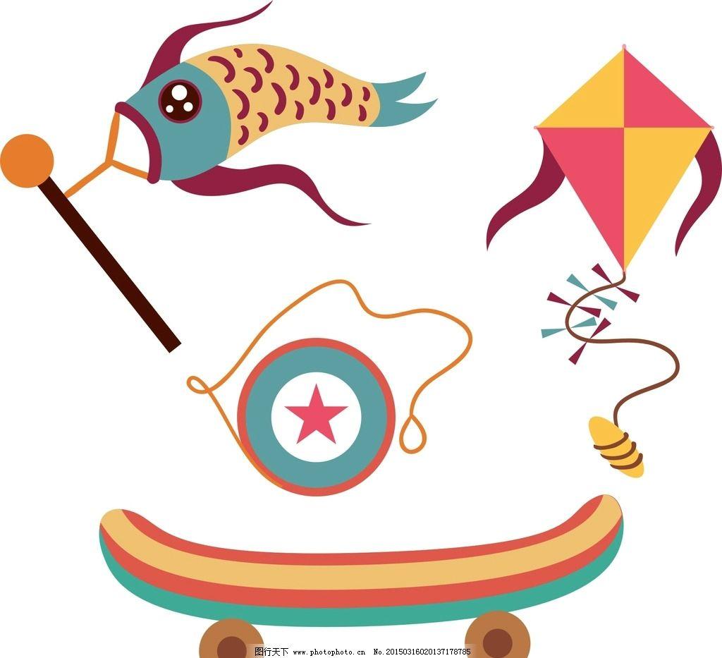 卡通滑板 风筝图片