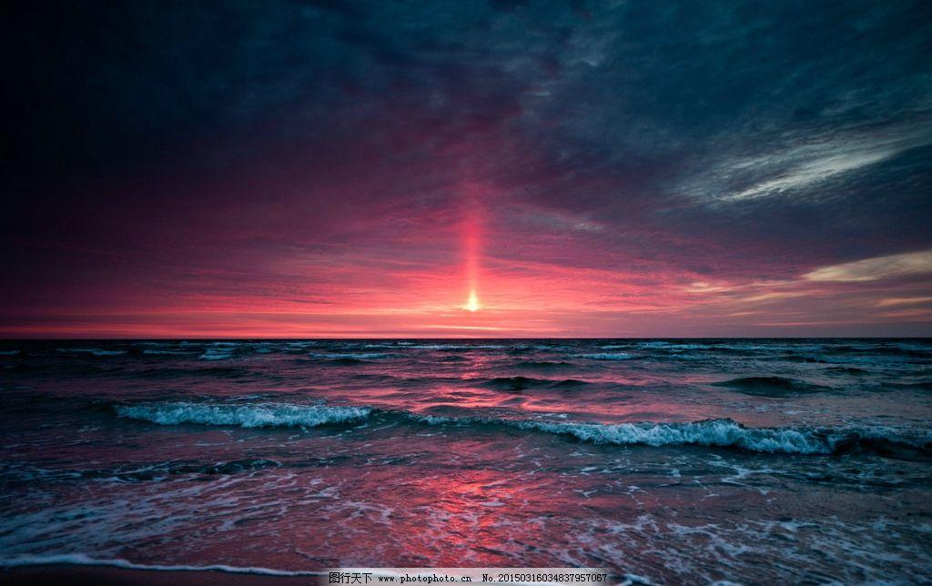 海边彩霞 大海 傍晚 海面 水面 夕阳 自然风光 摄影 落日 桌面
