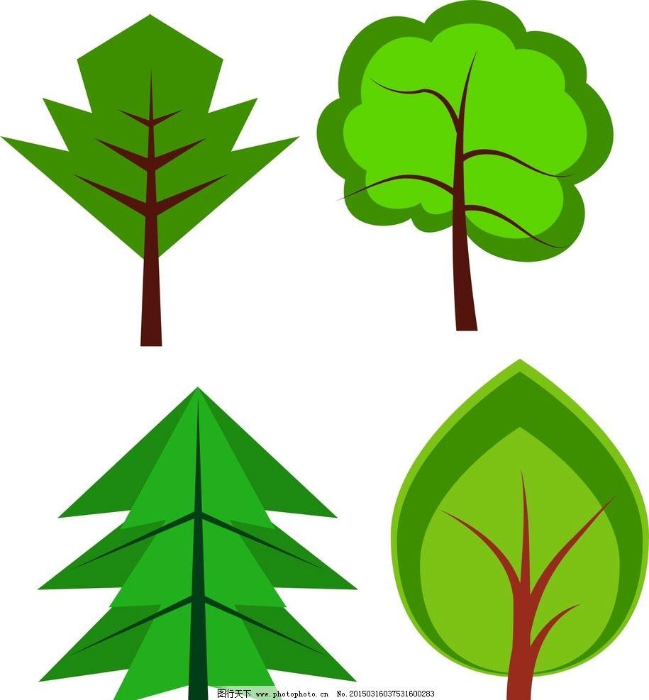 手绘 树木图片