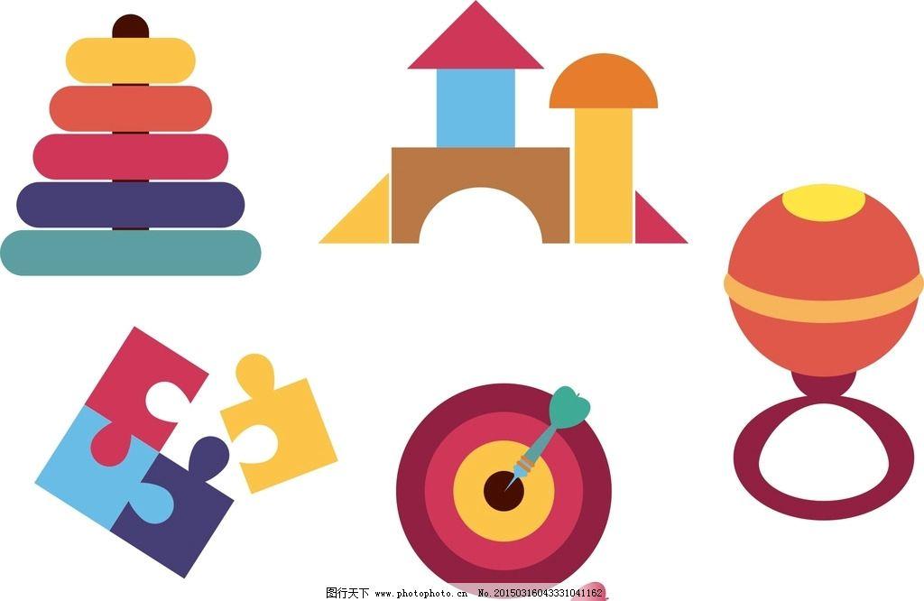 卡通拼图 手抓玩具 卡通素材 可爱 手绘素材 儿童素材 幼儿园素材图片