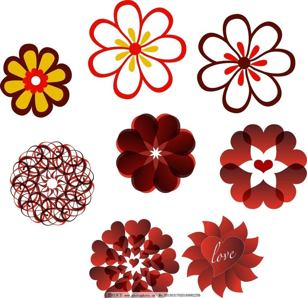 幼儿园 装饰素材 矢量装饰素材 卡通矢量素材 花朵 卡通花朵 手绘花朵