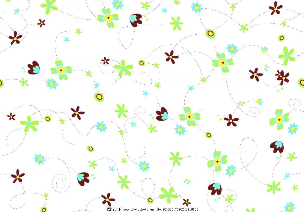可爱碎花背景 绿