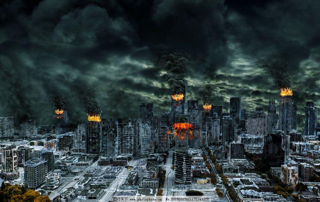 末日陨石撞地球图片