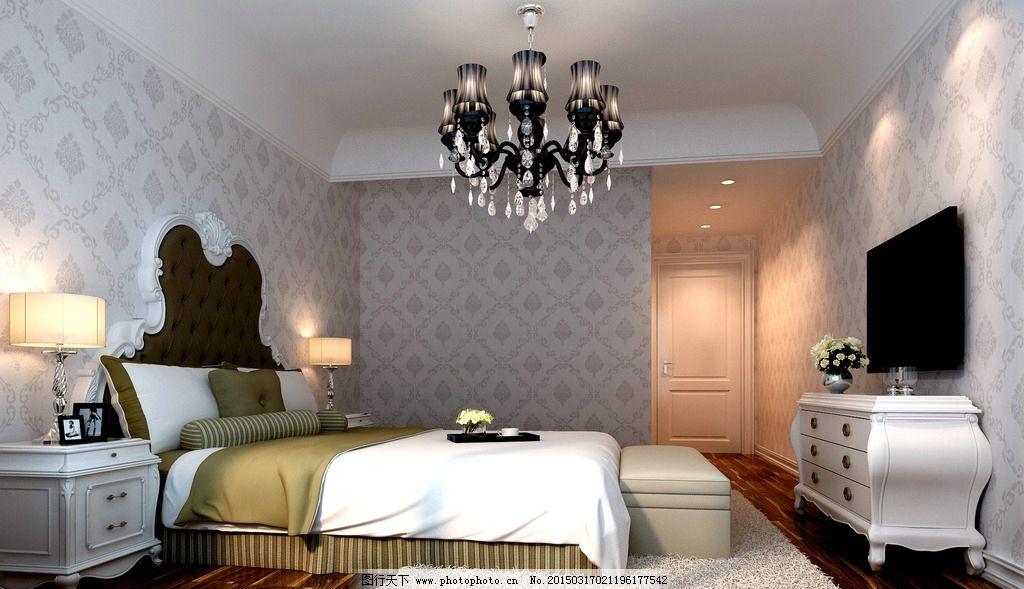 简欧 欧式卧室 简欧卧室 实木家具 白色实木家具 设计 3d设计 室内