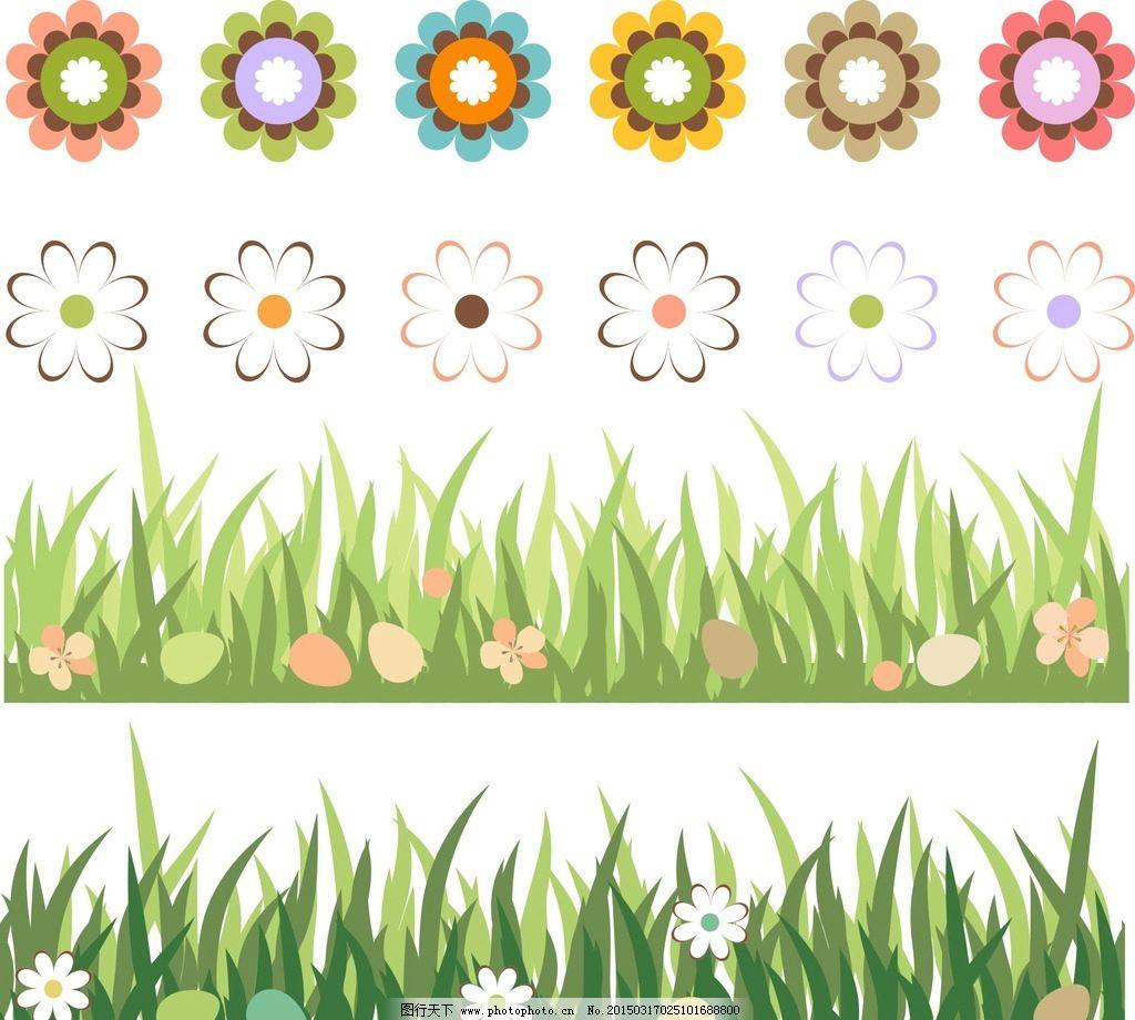 手绘素材 矢量花朵 矢量素材 各种花朵 素材 花藤 盛开 绽放 可爱