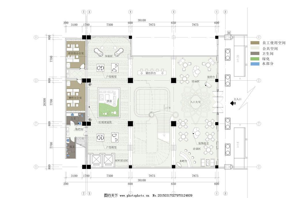工装 商业 娱乐 室内设计 平面布置图 彩平 家具模块 设计 环境设计
