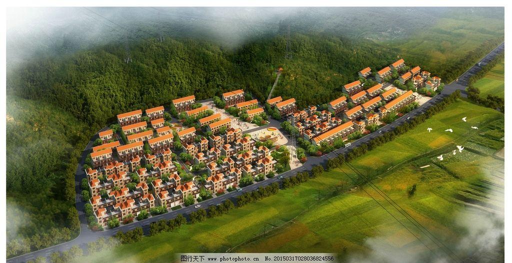 建筑鸟瞰图图片